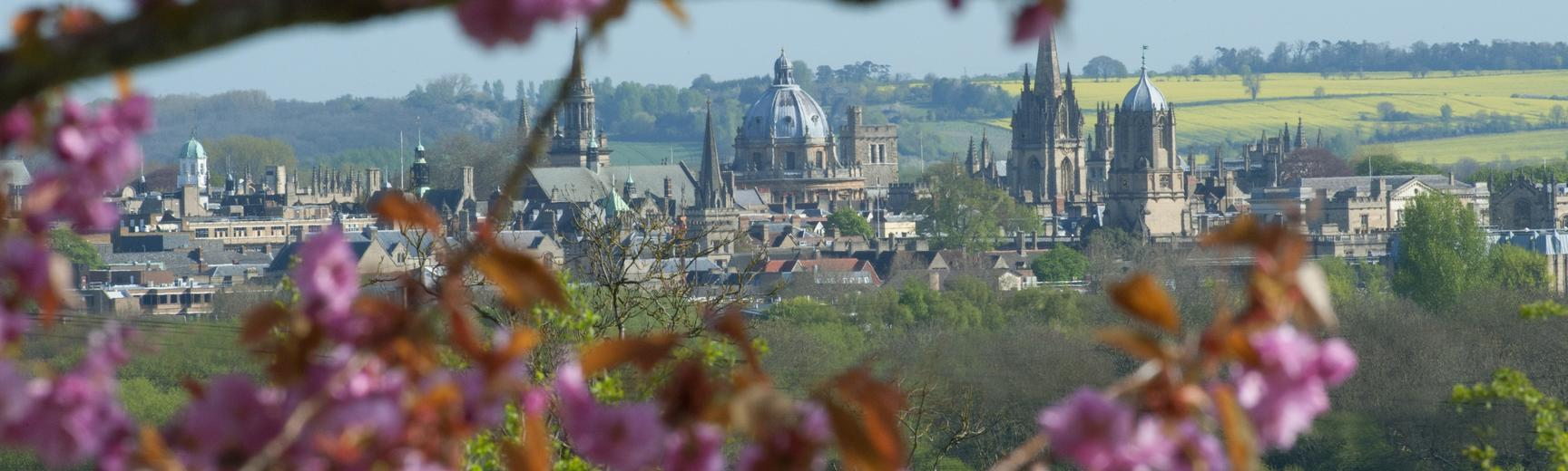 rd oxford skyline with blossom