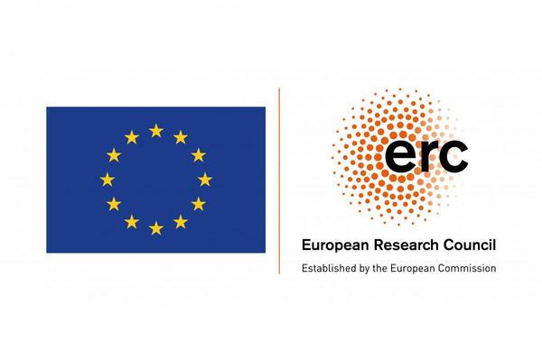 European Union flag adjacent to the European Research Council logo