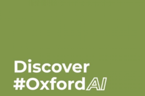 green background with text discover Oxford ai
