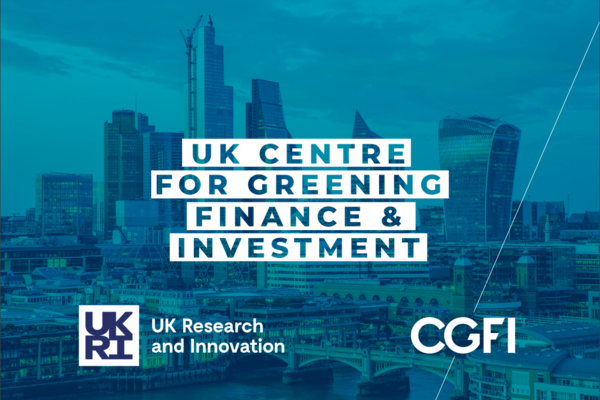 UK Centre for Greening Finance & Investment logo