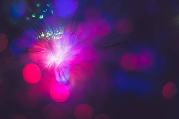 An abstract image of blurred, interconnected lights